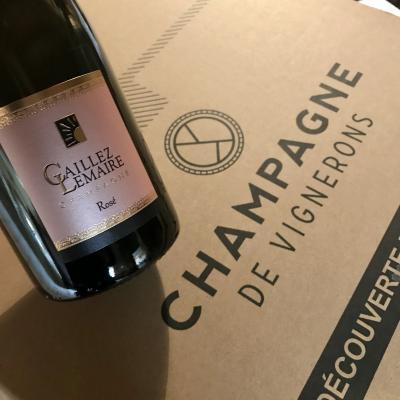 Champagne Rosé expédition