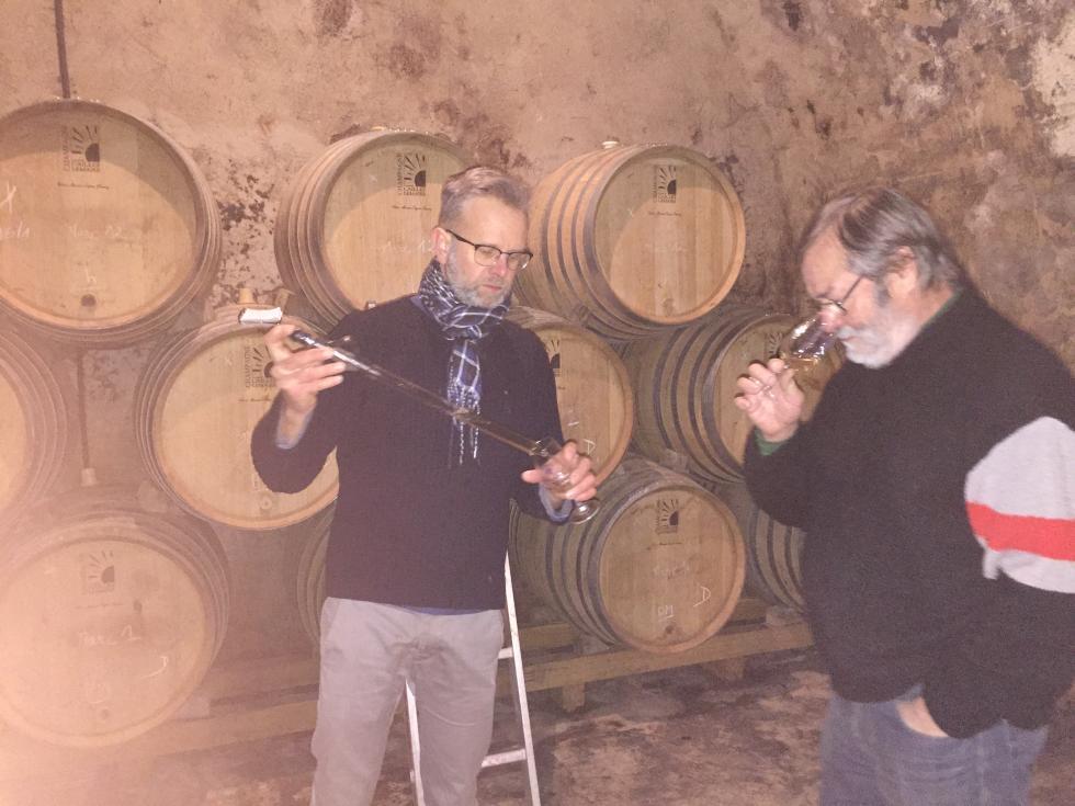 Dégustation vins clairs 2017 Henri Caillez et Laurent Vanpoperinghe