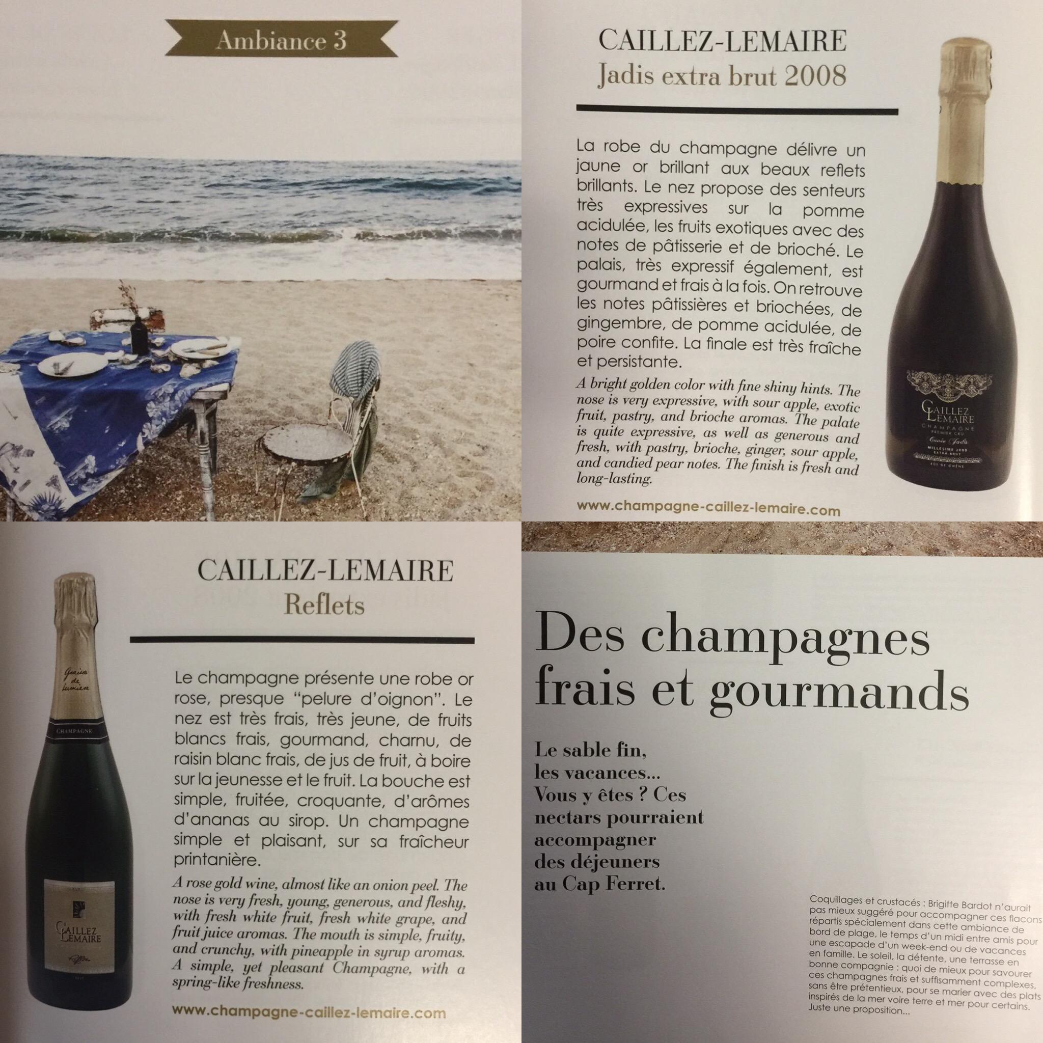 Champagnes frais et gourmands, Reflets brut, Jadis 2008