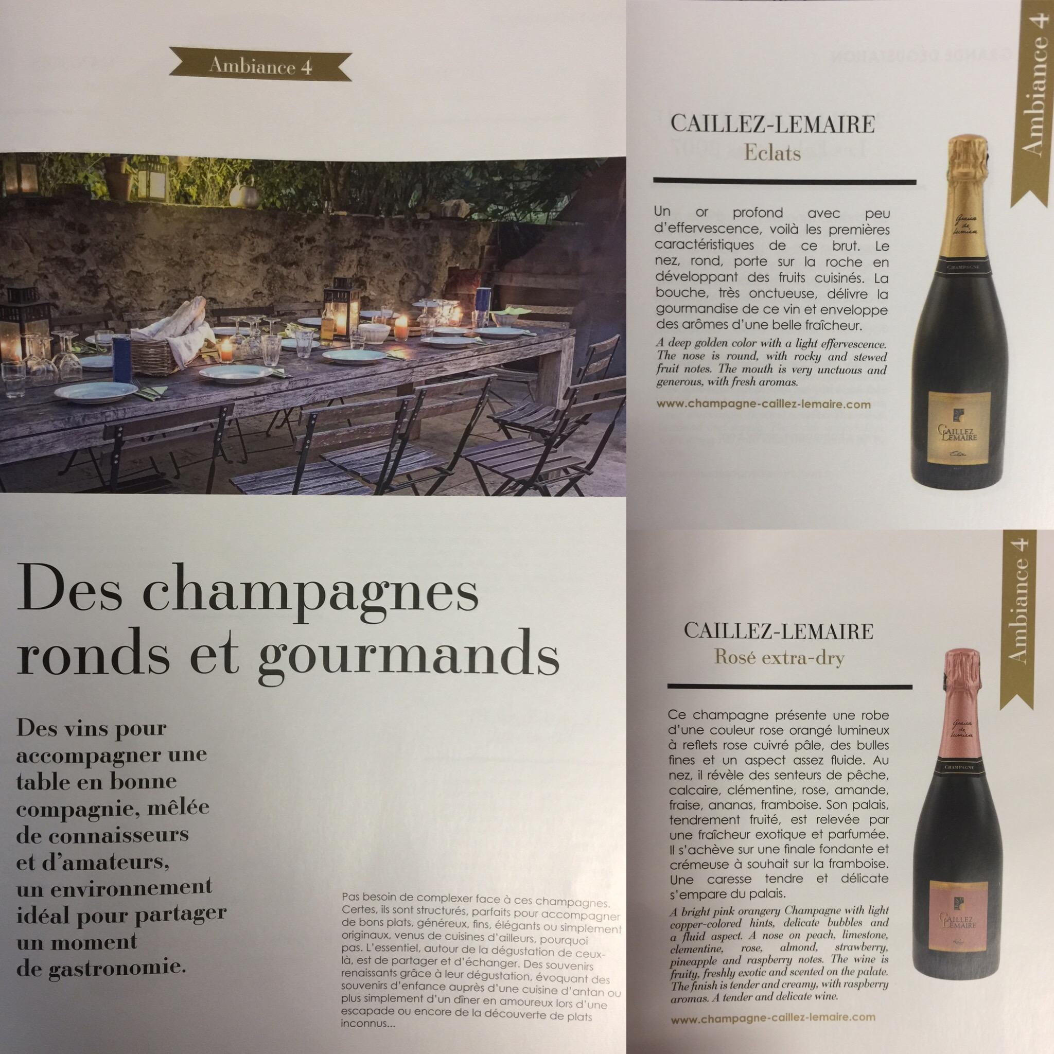 Champagnes ronds et gourmands, Eclats brut, Rosé extra-dry
