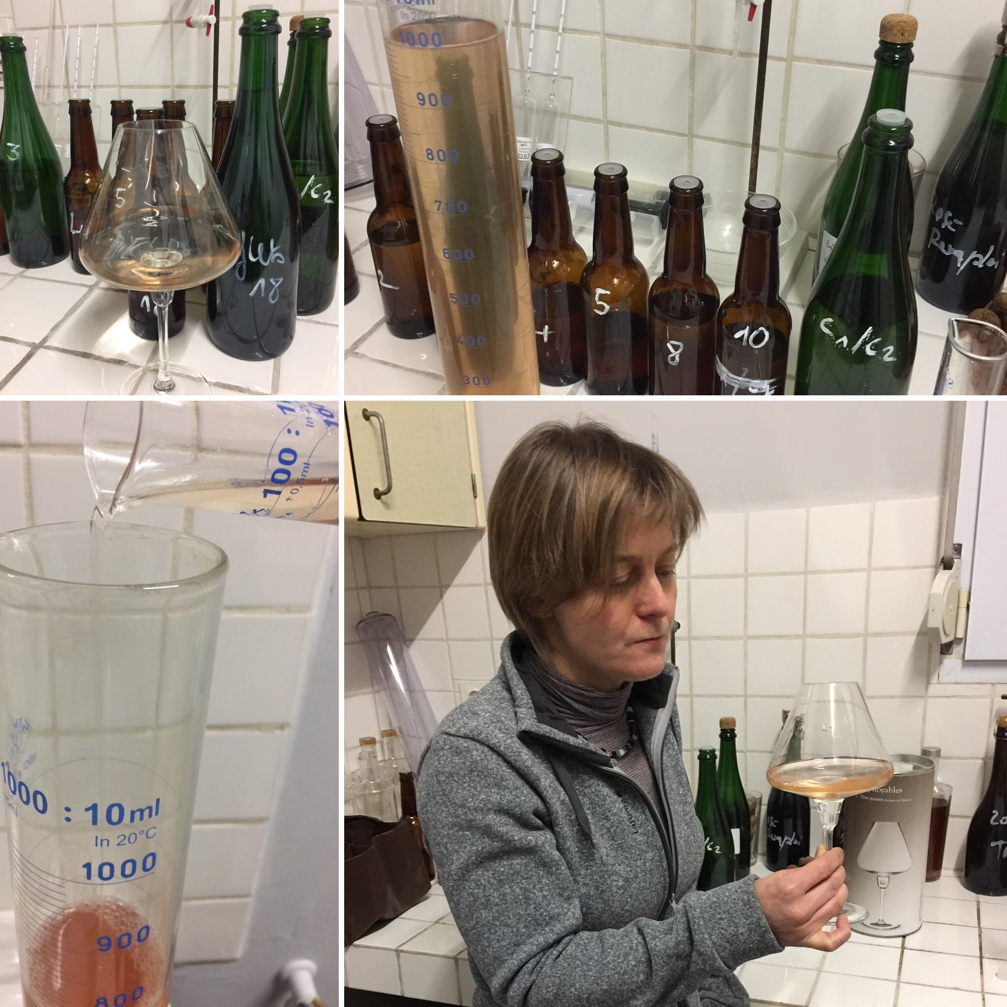 Blending 2018 Harvest 2017 Champagne Caillez Lemaire Virginie Vanpoperinghe tasting