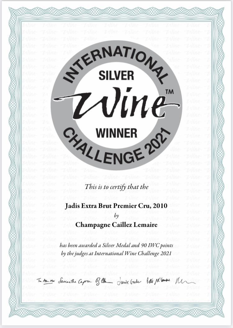 Concours Vin Champagne Millésime