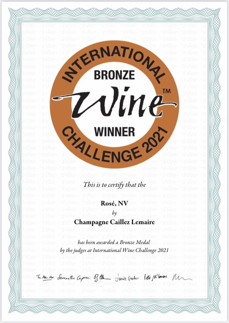 Concours Vin Champagne Rosé